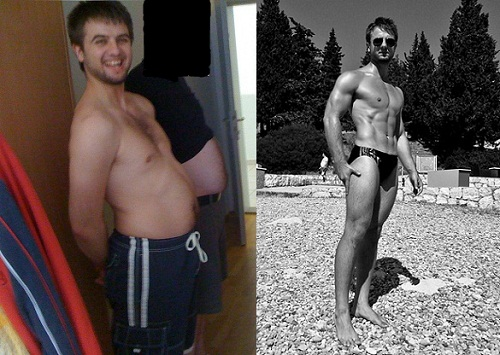 Body Tranformation From Fat to Six Pack Ripped Fitness Model