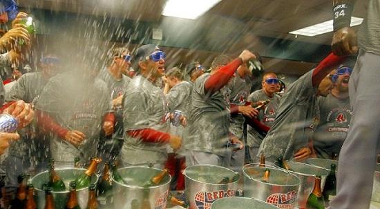 Athletes Celebrating With Alcohol
